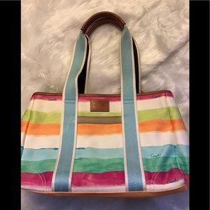 Coach Hampton Watercolor canvas tote bag.